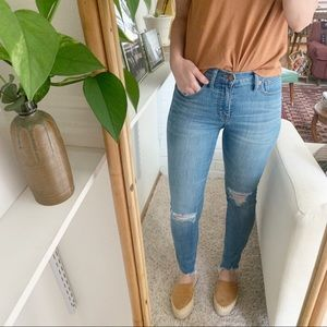 "Madewell 9"" high rise skinny jeans in Frankie wash"